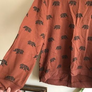 Elephant sweatshirt rust color